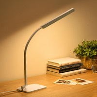 Gooseneck LED Desk Lamp Touch Dimmable Eye Protection Bedside Book Reading Study Office Work Table Lamp Children Night Light