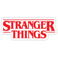 'STRANGER THINGS SOLID LOGO' Sticker by hanelyn