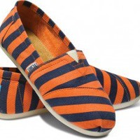 Coral & Blue Stripe Youth Canvas Classics