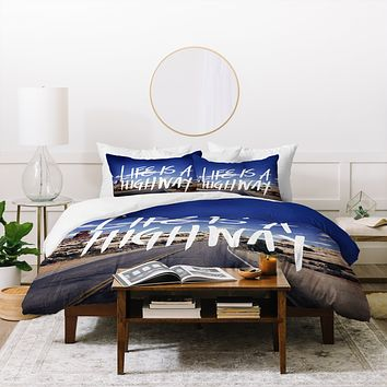 Leah Flores Life Is A Highway Duvet Cover