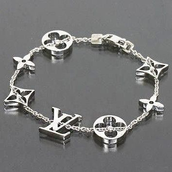 LV Louis Vuitton Small Accessories Splicing Bracelet Women Titanium Bracelet Jewelry+Birthday Present