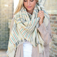 Colorful Stitch Blanket Scarf