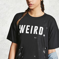 Weird Graphic Distressed Tee