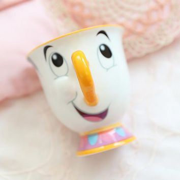 Beauty and The Beast Tea Cup Cartoon Coffee Milk Mugs Home Decoration Ceramic Mrs Potts Chip Cups Drop Shipping
