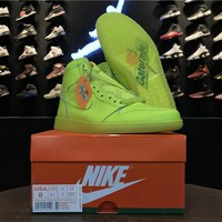 Air Jordan 1 Gatorade Lemon Sneakers AJ5997-345 Men Basketball Shoes - Best Online Sale