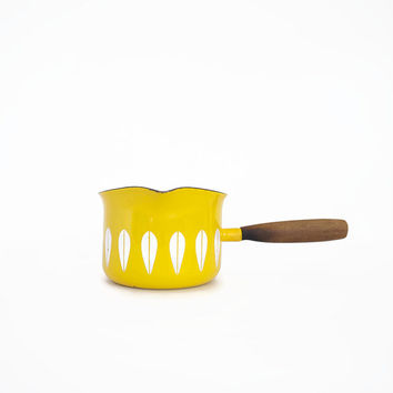 Catherineholm Bright Yellow Butter Warmer Pot with Lotus Design