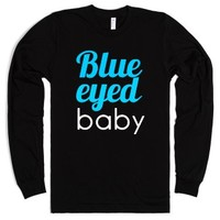 Blue eyes-Unisex Black T-Shirt