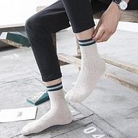 1Pair Happy Men Socks Calcetines Hip Hop Socks For Men Male Colorful Striped Socks Art Chaussettes Homme Calcetines Hombre