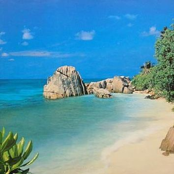 Tropical Beach Paradise Cove Poster 24x36