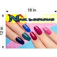 Nail Designs 10 Wallpaper Poster Decal with Adhesive Backing Wall Sticker Decor Indoors Interior Sign Horizontal