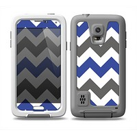 The Gray & Navy Blue Chevron Skin Samsung Galaxy S5 frē LifeProof Case