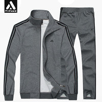 Men's Sportswear Suit Plus Size XXXL 4XL 5XL 6XL 7XL 8XL Set Male Active Cotton Clothing Suit Tracksuits Sweatshirt+Pants