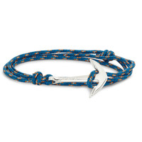 Miansai - Rope and Silver Anchor Bracelet   MR PORTER