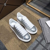 ALEXANDER MCQUEEN Women's Leather Fashion Low Top Sneakers Shoes-DCCK