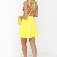 Strappy Together Yellow Dress