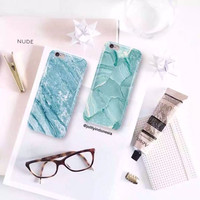 2017 seawater sky blue brief pc plastic hard case for iphone 6 6s 6plus 6splus black white back cover phone shell skin -0324