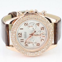 Candy Color Belt Watch for Women Brown