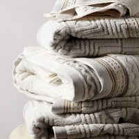 Windstream Towel Collection by Anthropologie in Grey Motif Size: