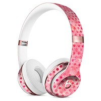 Shabby Chic Pink and Red Watercolor Polka Dots Full-Body Skin Kit for the Beats by Dre Solo 3 Wireless Headphones