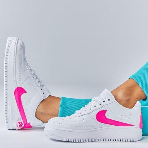 Image of Nike Air Force1 Jester AF1 Air Force One White Powder Casual Sneakers Shoes