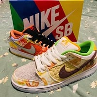 Nike SB dunk Low help pattern color-blocking low-top men's and women's sneakers Shoes