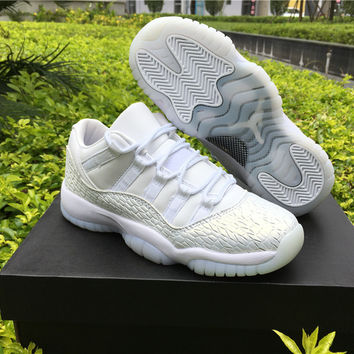 "Air Jordan 11 Low GS PRM HC ""Frost White"" AJ11 Women Basketball Shoes"