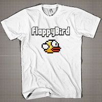 FLEPPY BIRD  Mens and Women T-Shirt Available Color Black And White