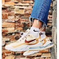 N Nike Air Max 270 new couple stitching color air cushion casual sneakers