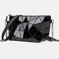 Chain Messenger Bag 2020 Summer New Fashion Shoulder Bag Lingge Chain Bag black