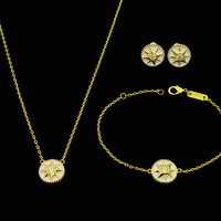 BeadyBoutique Lucky Star Jewelry Collection 3 Piece Set - White