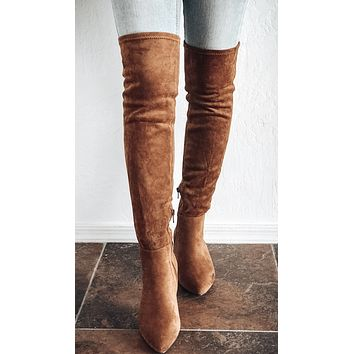 SAINT TAN OVER THE KNEE SUEDE LEATHER BOOTS