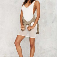 Suit Yourself Sheer Mini Dress - White