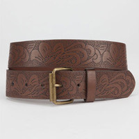 Lotus Embossed Belt | Belts