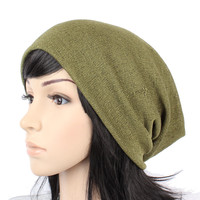 D1023 UNISEX BEANIE CROCHET KNIT HAT WOMEN MEN SLOUCH OVERSIZE SPRING SUMMER