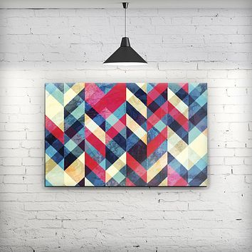 Angled Colored Pattern - Fine-Art Wall Canvas Prints