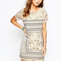 New Look 70s Floral Tunic Dress