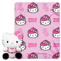 Chicago White Sox MLB Hello Kitty with Throw Combo