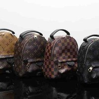 LV Louis Vuitton Trending Ladies Print Leather Bookbag Shoulder Bag Handbag Backpack I