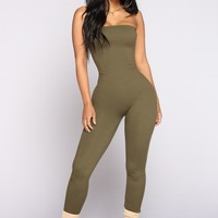 Buenos Aires Jumpsuit - Olive