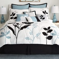 jcp home™ Shadow Leaf 10-pc. Comforter Set & Accessories