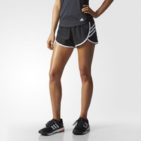 adidas Women's Ultimate Woven 3-Stripes Shorts - Red | adidas Canada