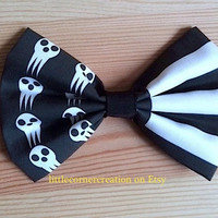 Death The Kid Soul Eater Inspired Hair Bow OR Bow Tie