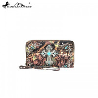 Montana West Camo and Turquoise Wallet