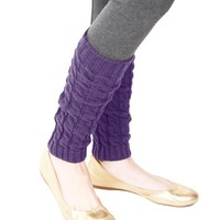 Girls Chaotic Cable Knit Legwarmer