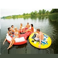 Sevylor Inflatable 108 Inch Mothership Island with Clutch Towable, 108 Inch