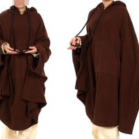 6colors Spring&Winter UNISEX buddhist abbot Lay monks cape martial arts gown zen Polar fleece warm meditation cloak