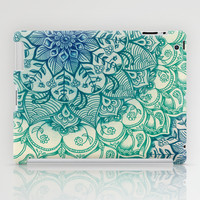 Emerald Doodle iPad Case by Micklyn