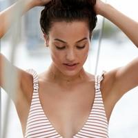 Free People Kingsley Striped Bikini Top