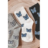 Movie Night Butterfly Socks