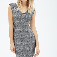 Metallic-Flecked Sheath Dress